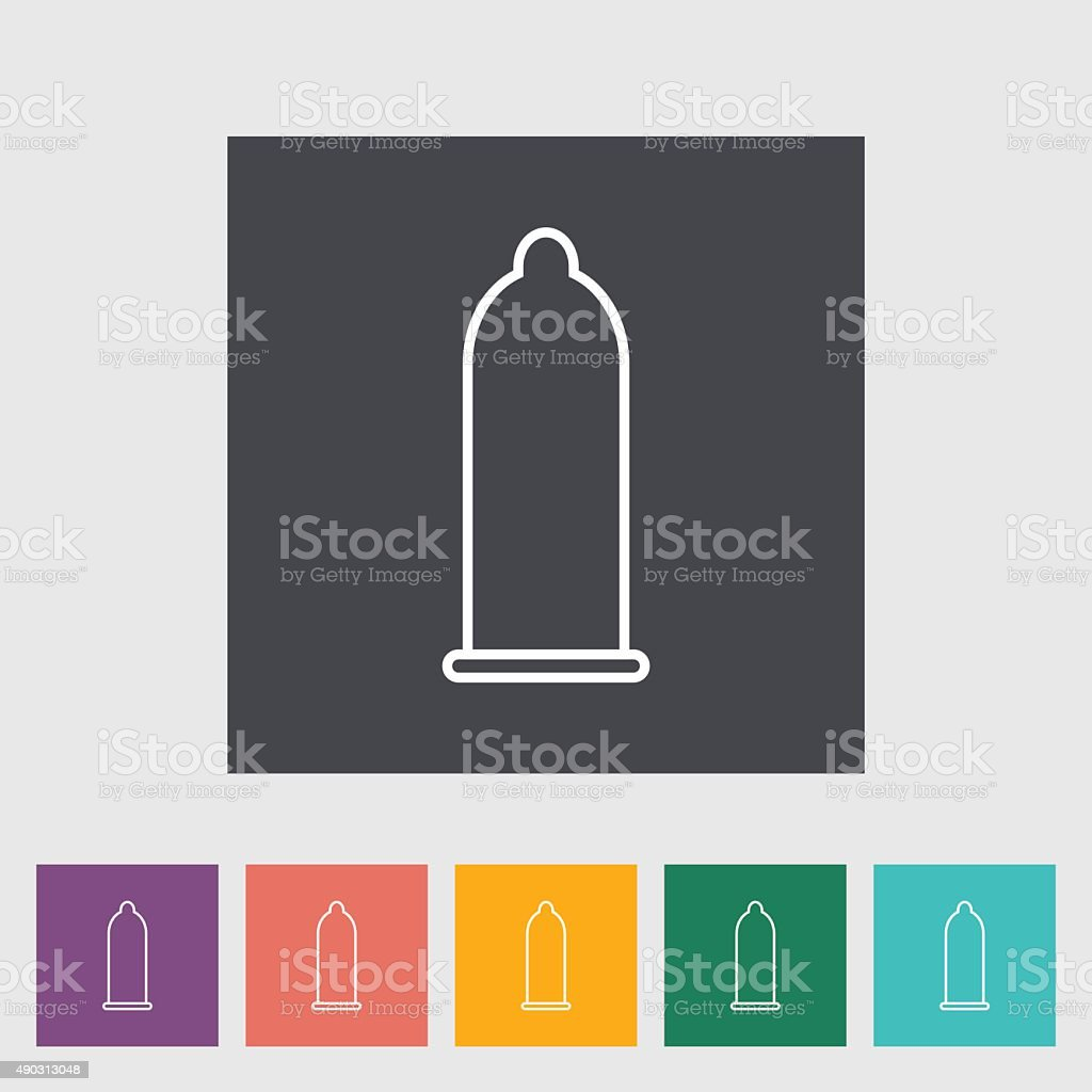Condom vector art illustration