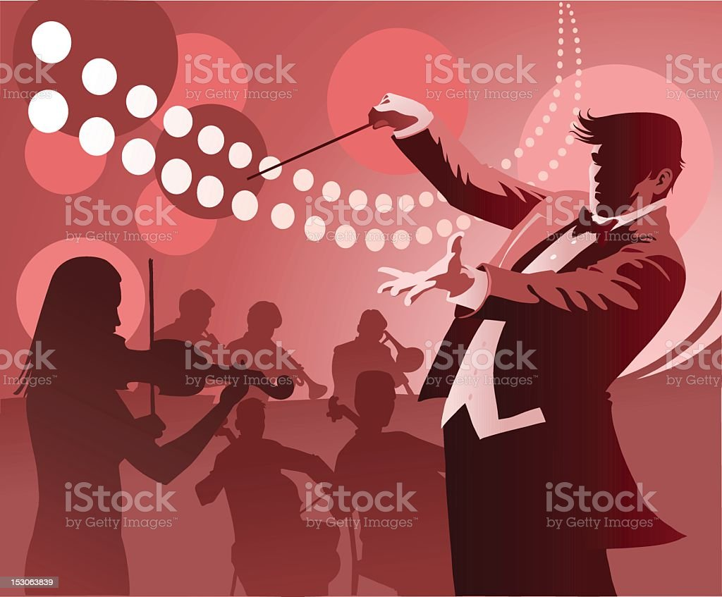 Conductor Conducting royalty-free stock vector art