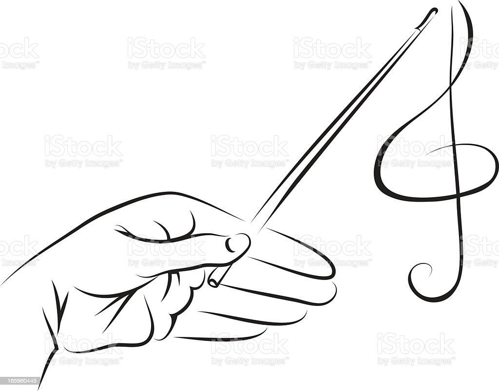 Conductor vector art illustration