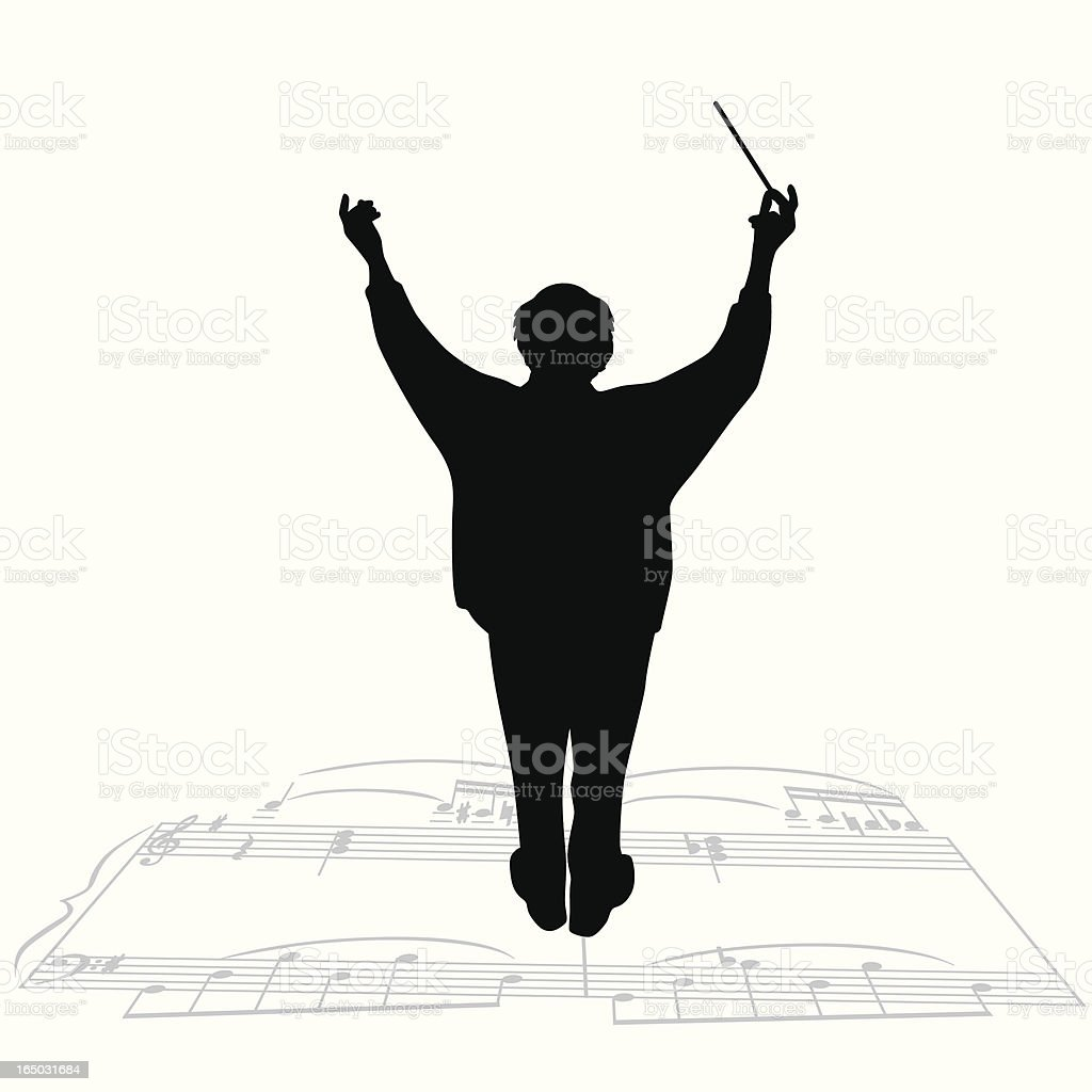 Conductor Vector Silhouette royalty-free stock vector art