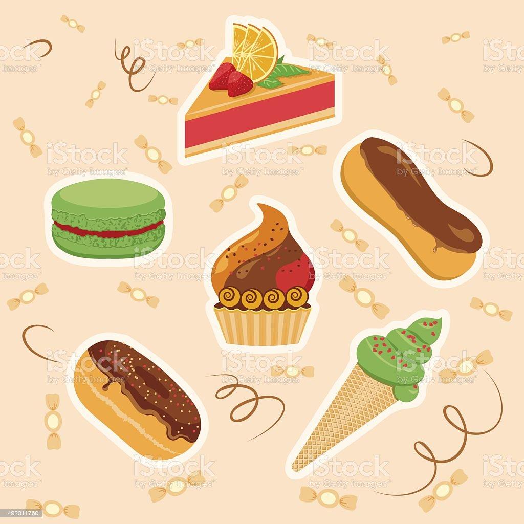confection vector art illustration