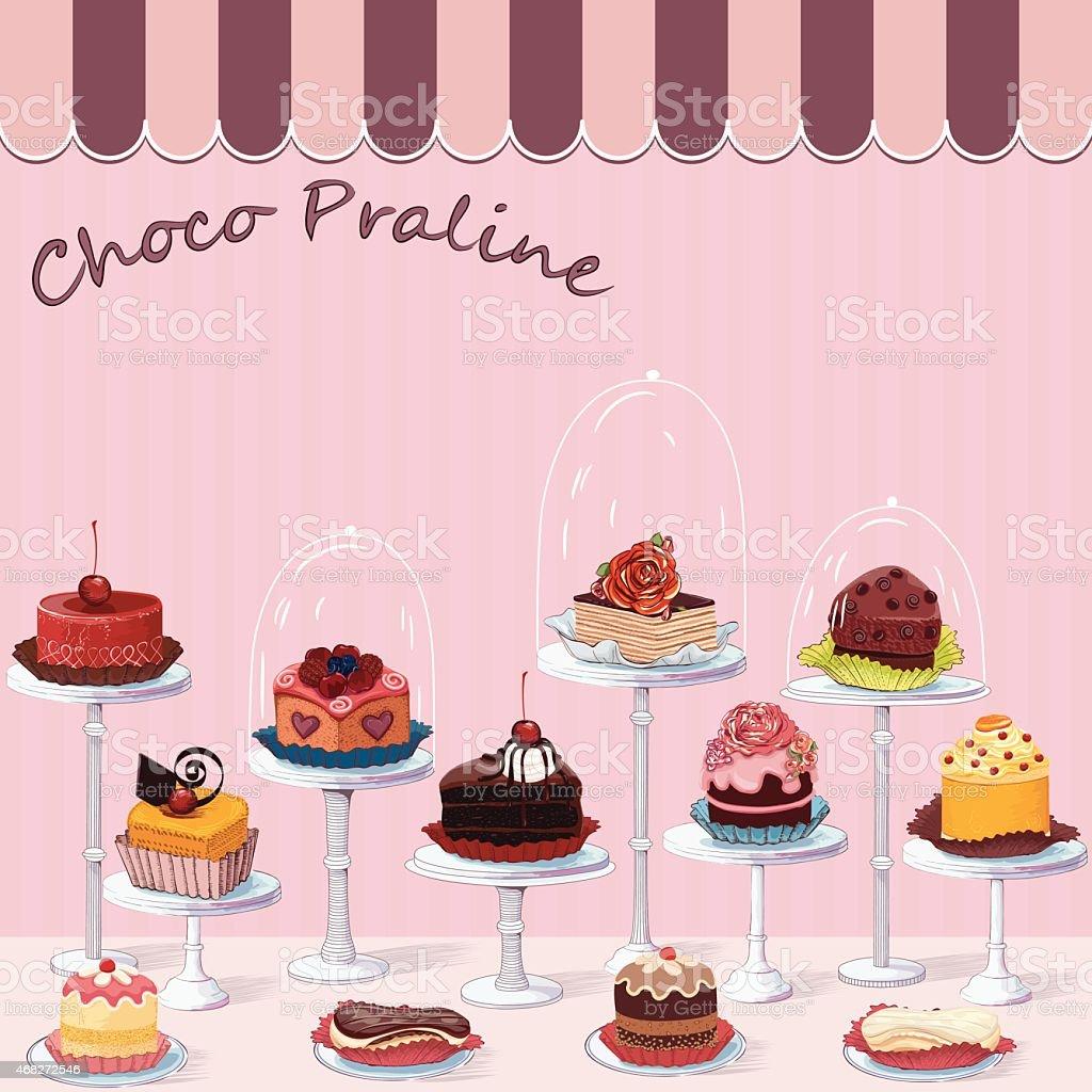 Confectionery vector art illustration