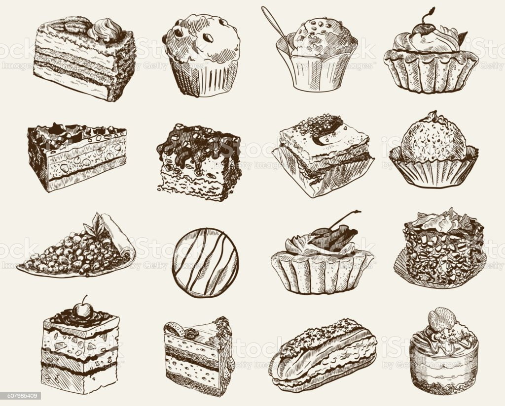 confectionery vector art illustration
