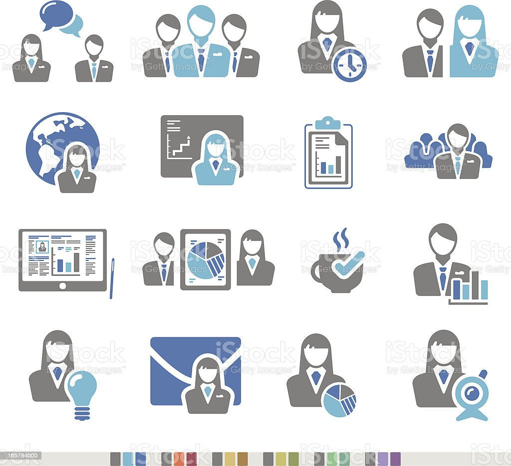 Conference   Chromatic Icons vector art illustration