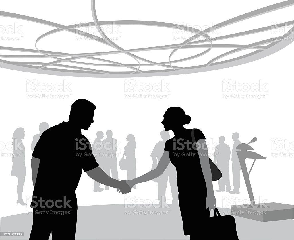 Conference Farewell vector art illustration