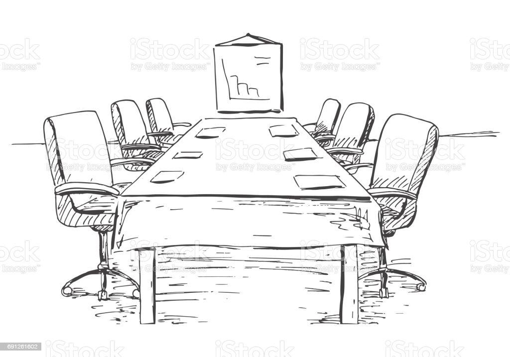 Schreibtisch gezeichnet  Bürostuhl Gezeichnet | saigonford.info