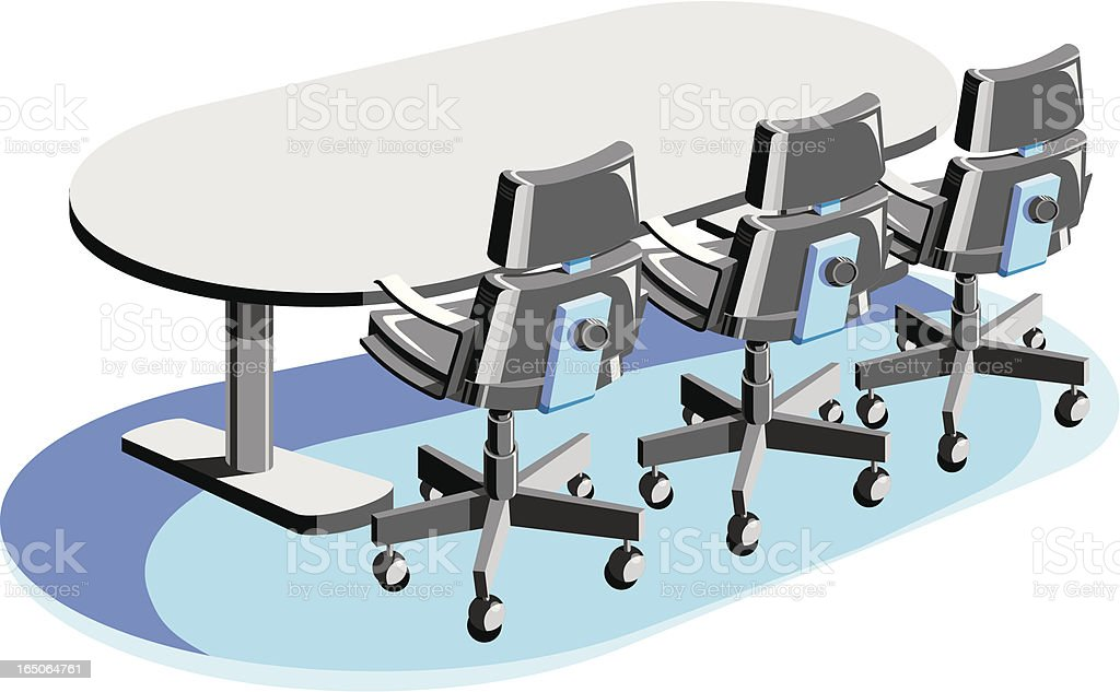Conference Room royalty-free stock vector art