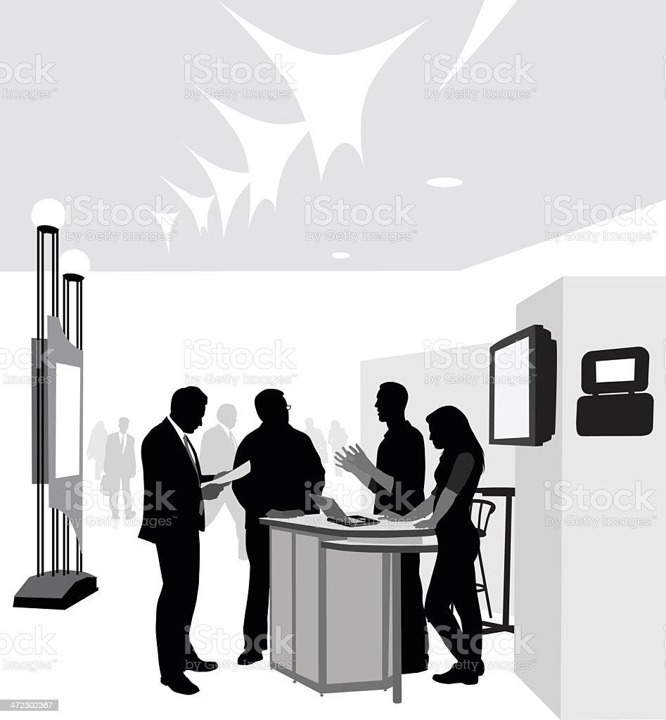 Conference vector art illustration