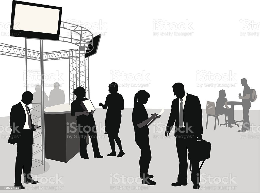 Conference Vector Silhouette vector art illustration