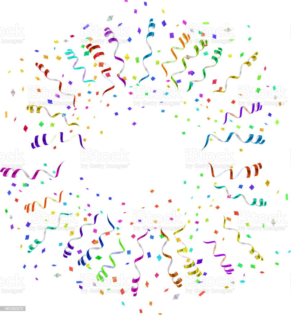 confetti blast in different directions vector vector art illustration
