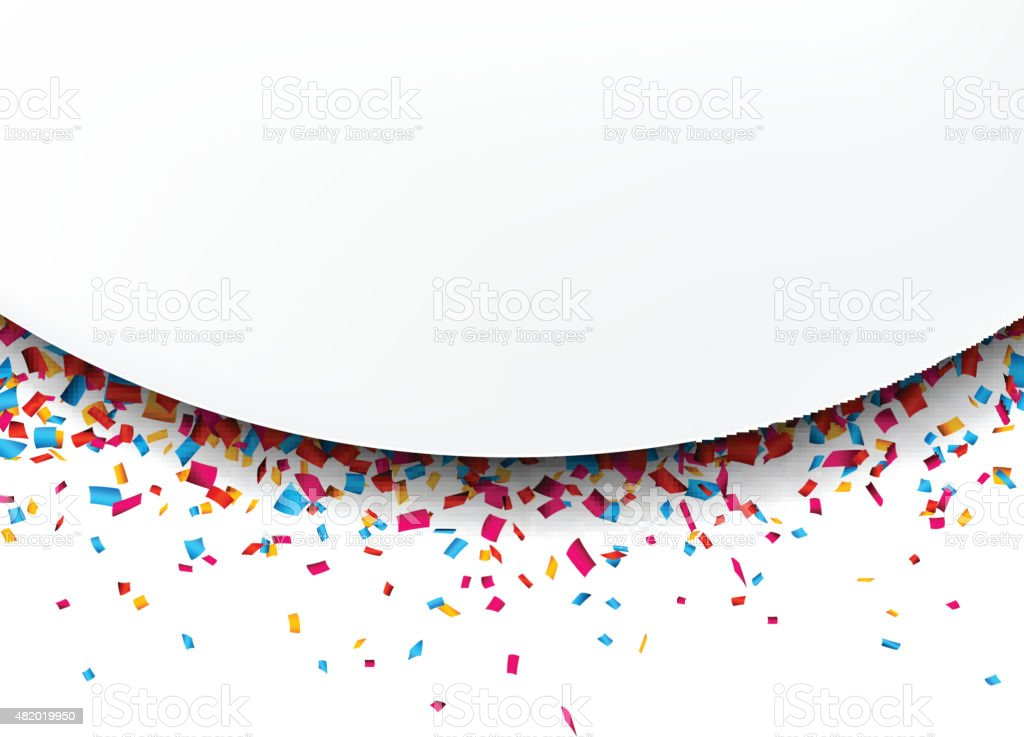 Confetti celebration background vector art illustration
