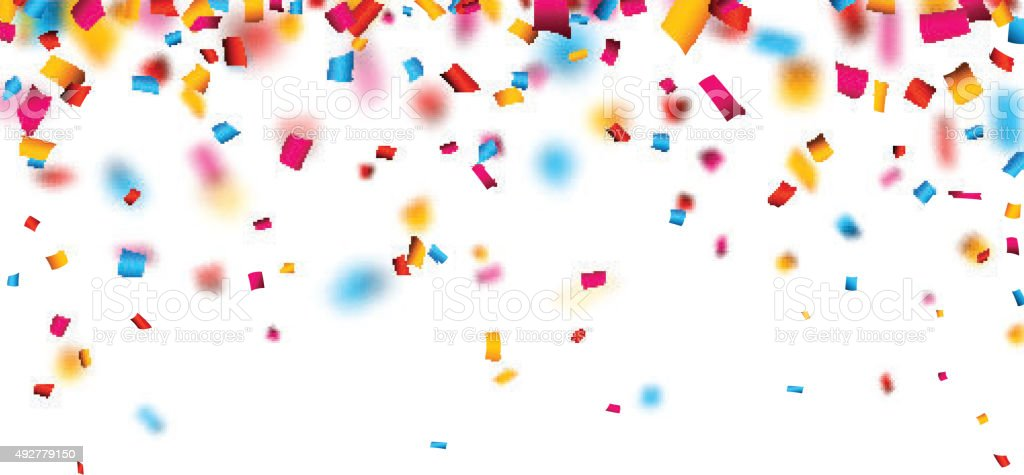 Confetti Celebration Background stock vector art 492779150 ...