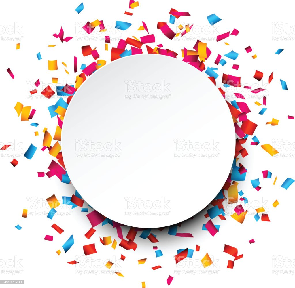 Confetti celebration background. vector art illustration