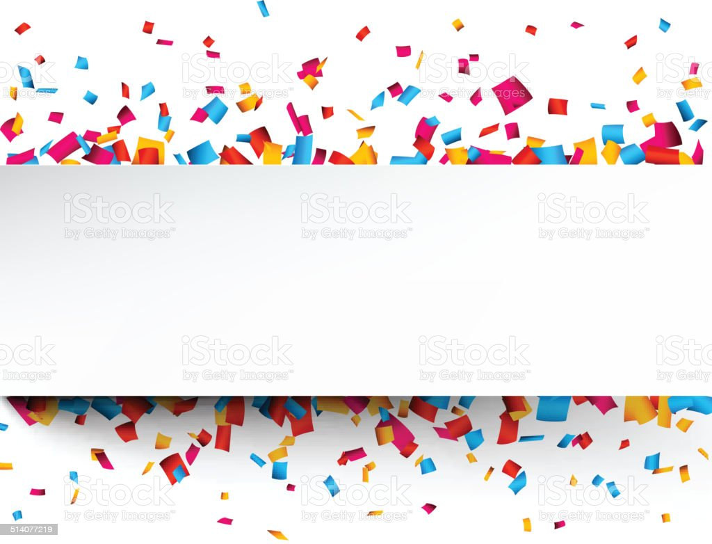 Confetti celebration background. vector art illustration