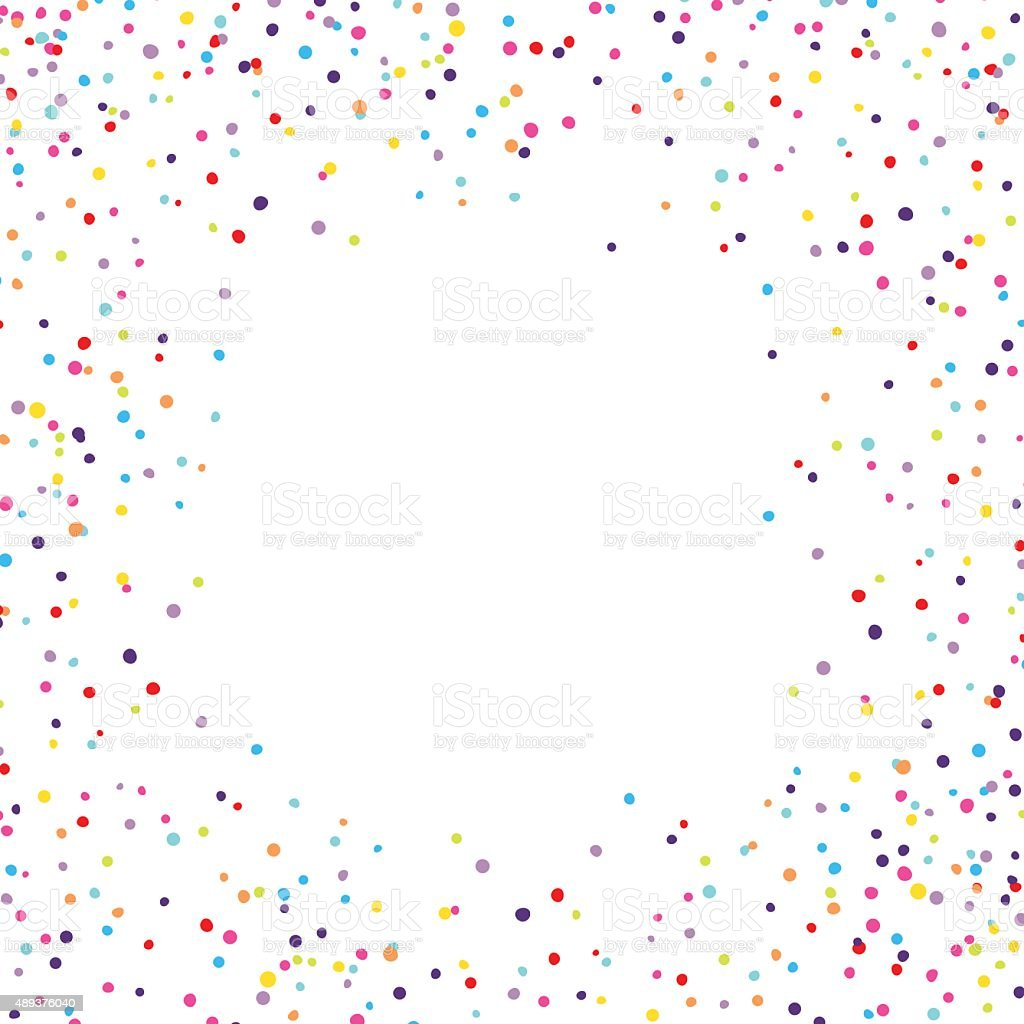 Confetti Frame vector art illustration