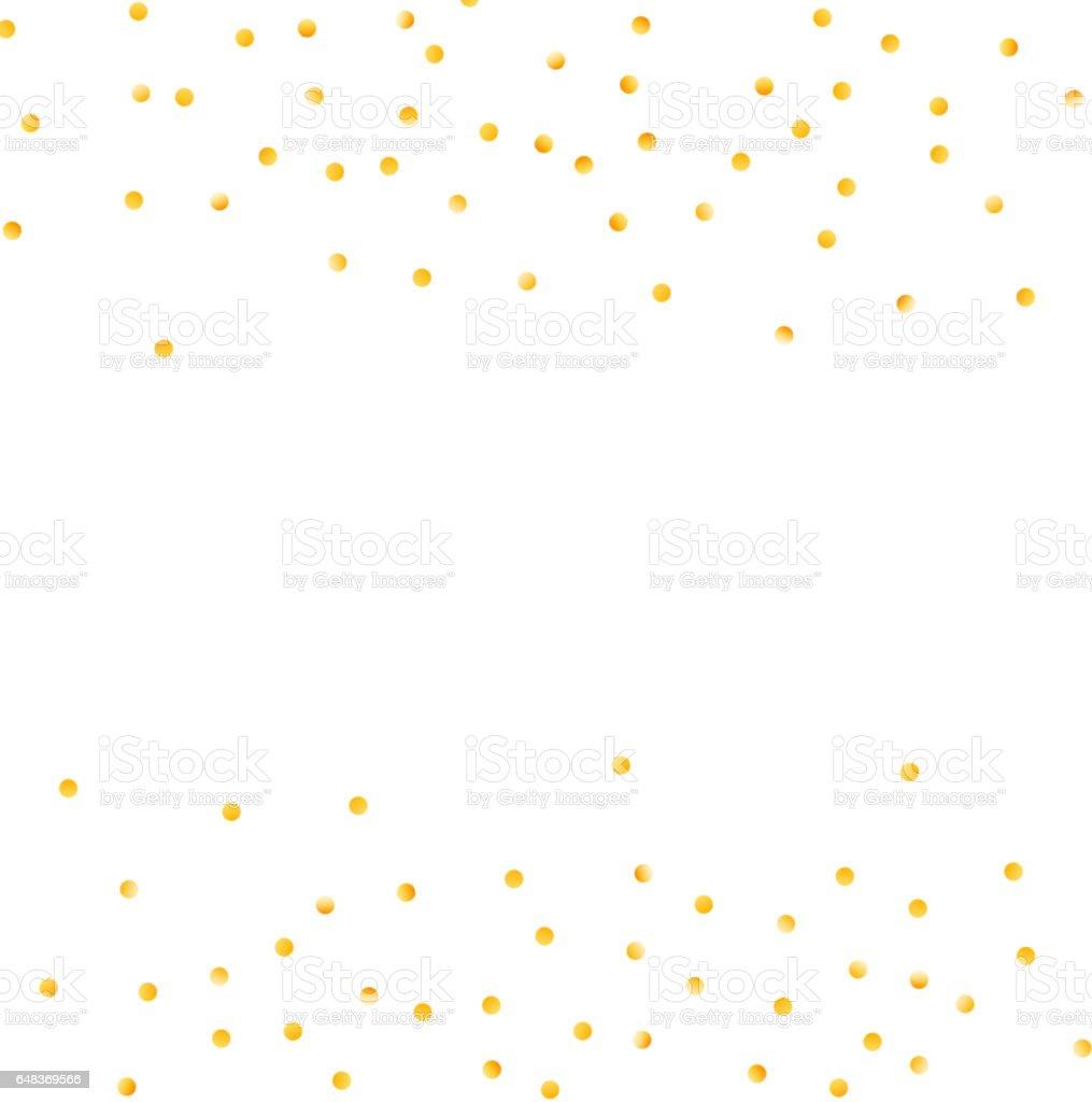 Gold dot confetti background