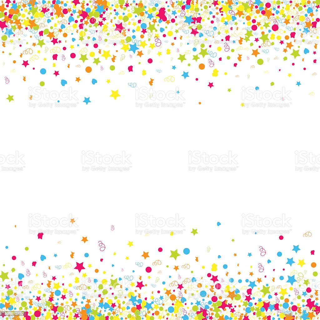 Confetti  vector background vector art illustration