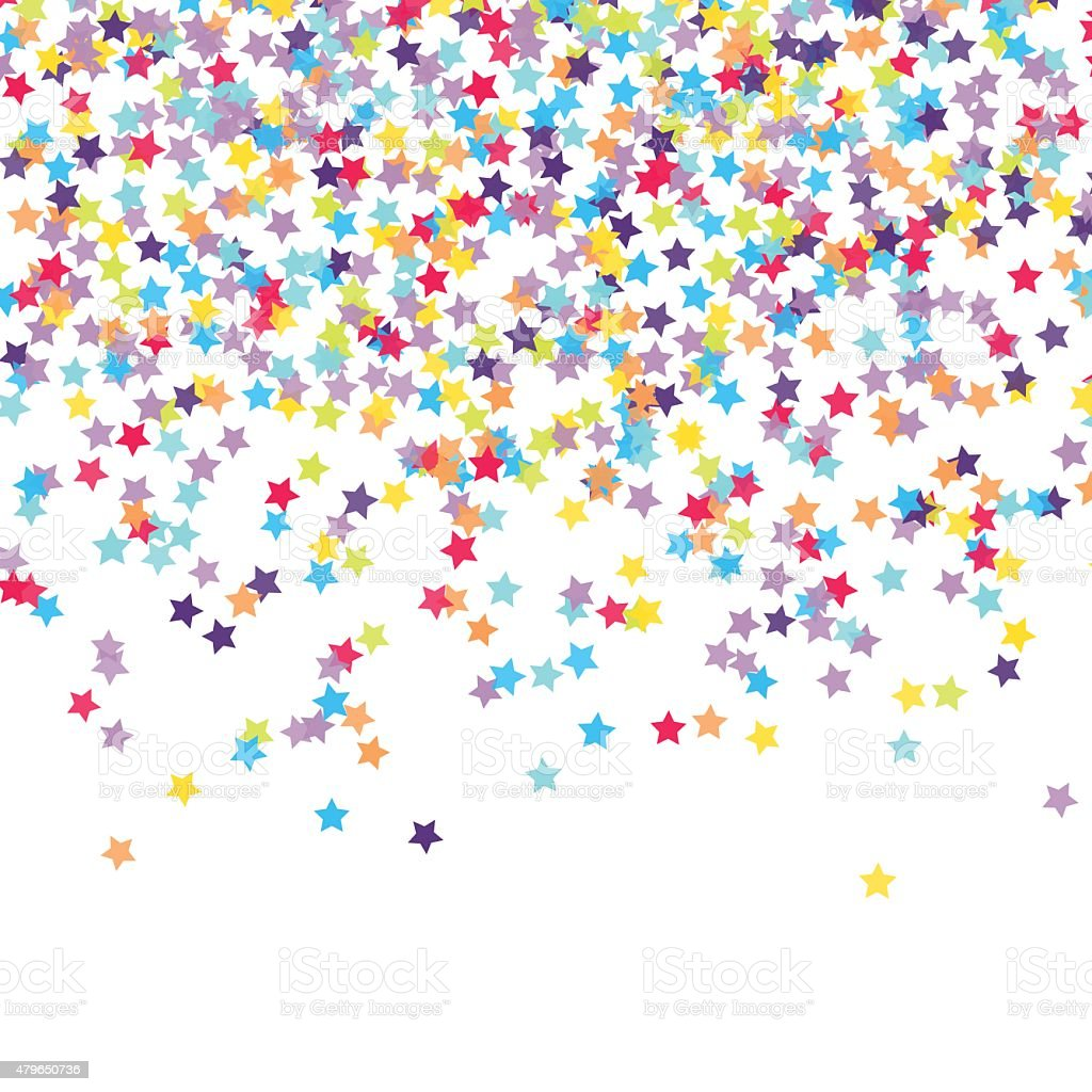 Confetti vector art illustration