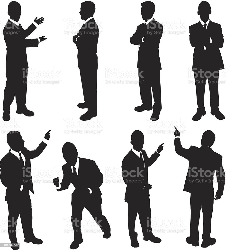 Confident businessman royalty-free stock vector art