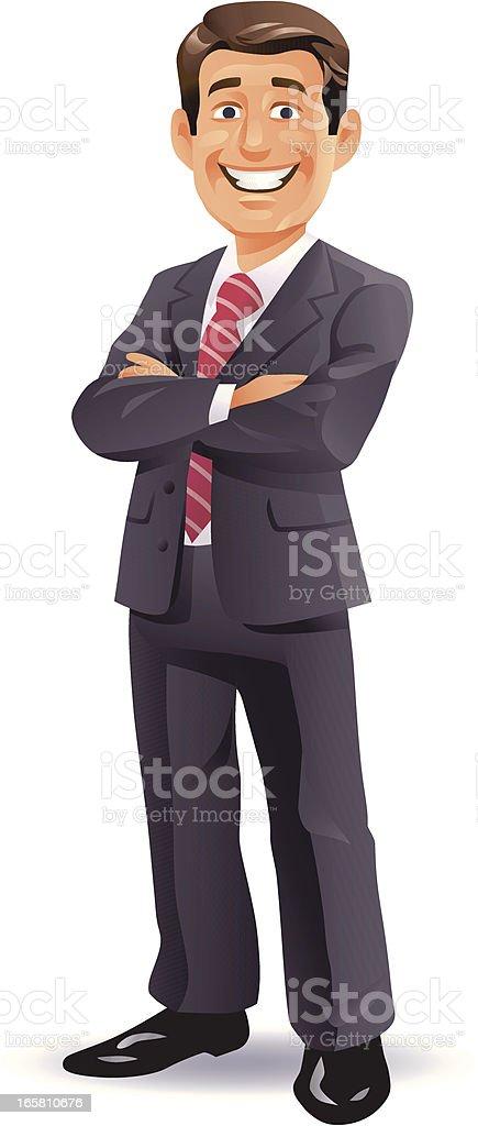 Confident Businessman vector art illustration