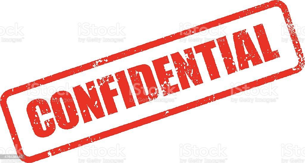 Confidential Rubber Stamp Ink Imprint Icon (Transparent Background) vector art illustration