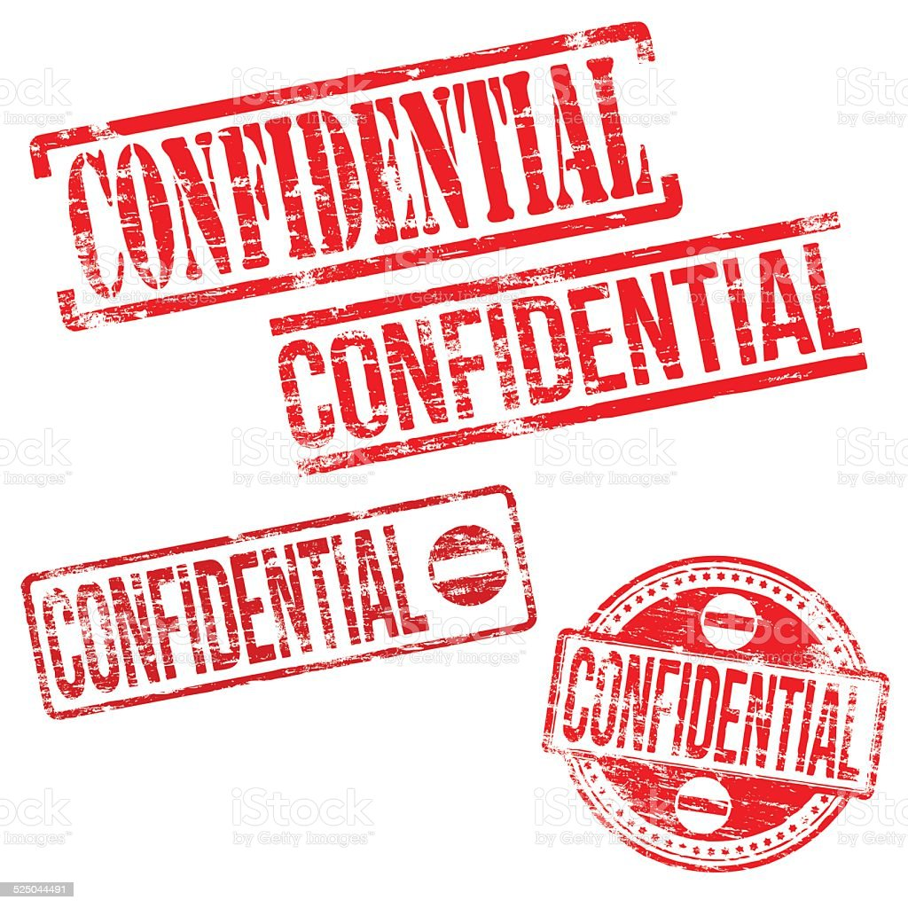 Confidential Stamps vector art illustration