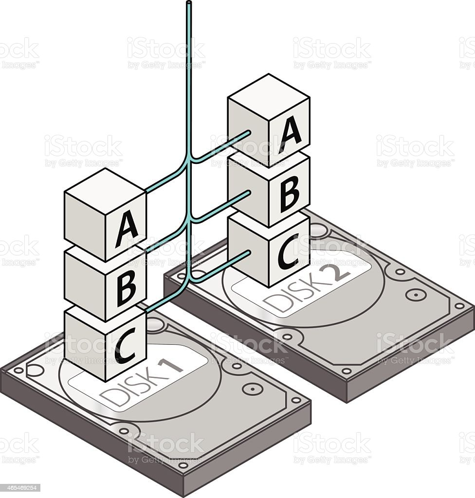RAID Configuration vector art illustration