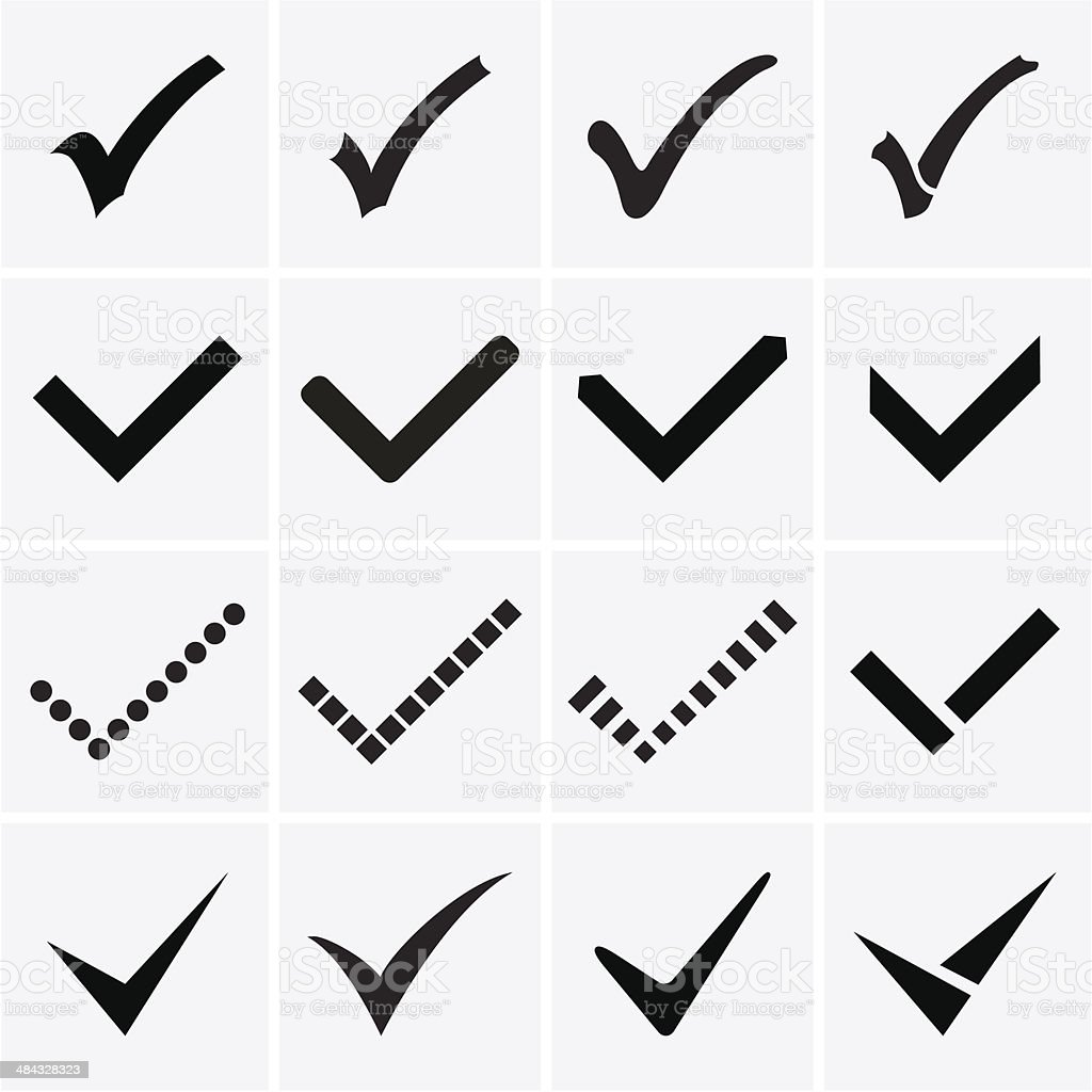 Confirm icons. Vector vector art illustration