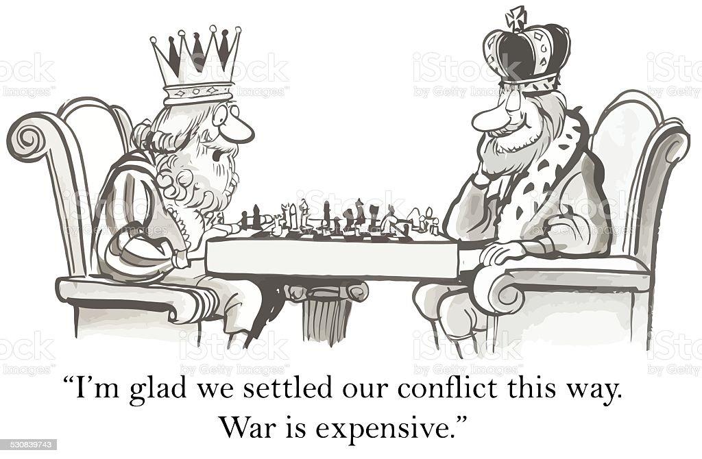 Conflict Resolution vector art illustration