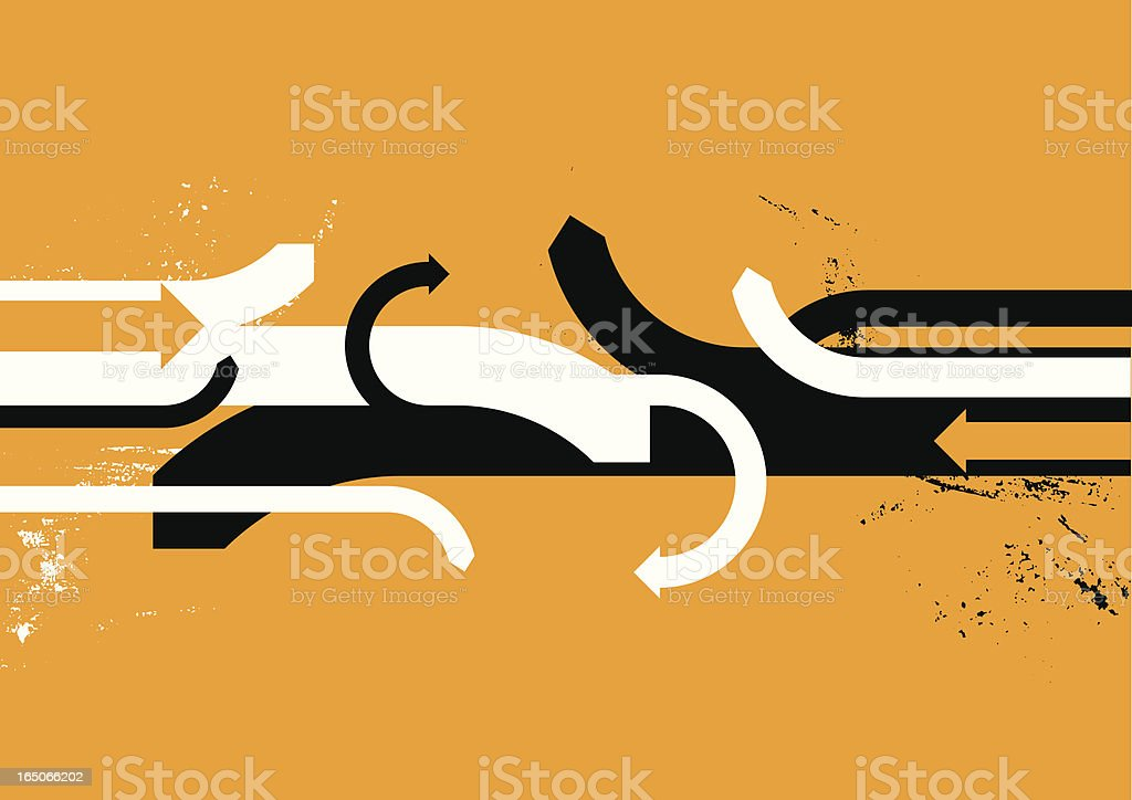 Conflict royalty-free stock vector art