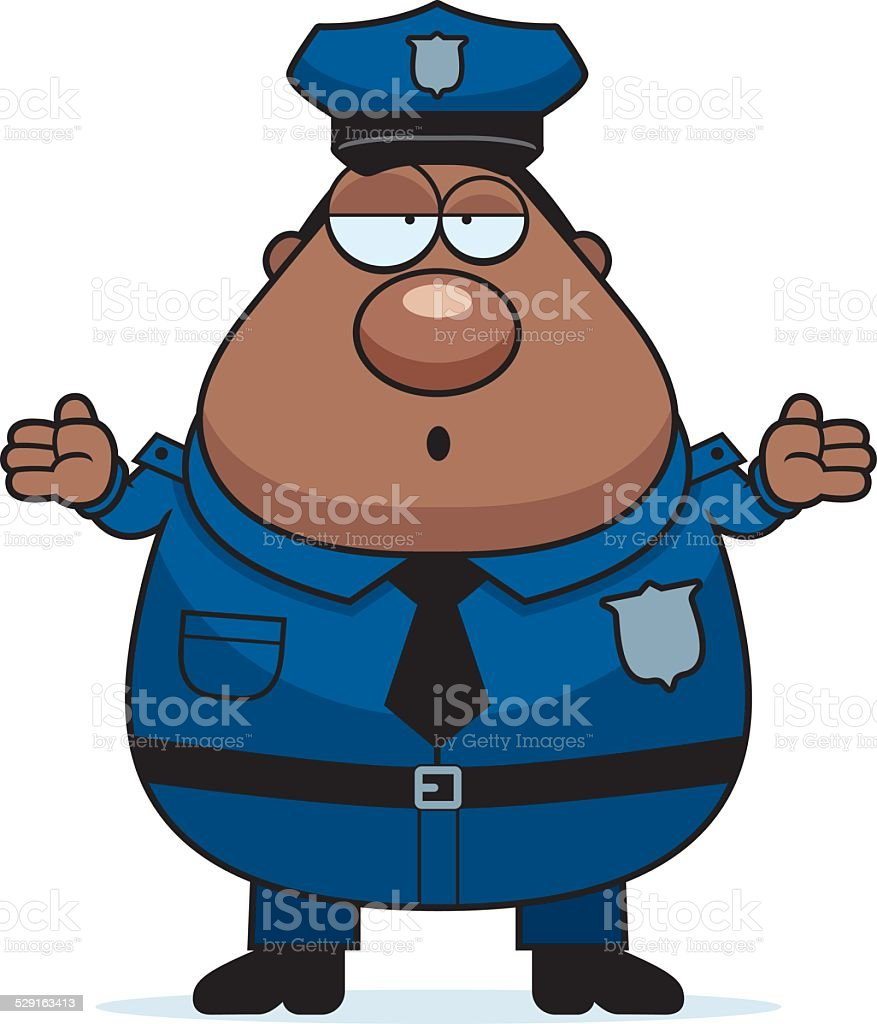 Confused Police vector art illustration