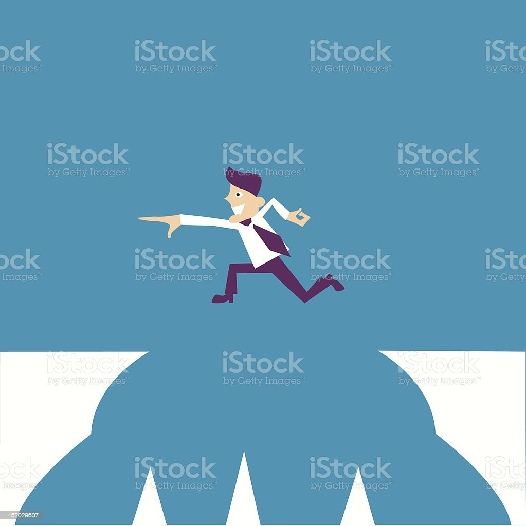 Confused, Standing at the crossroad royalty-free stock vector art