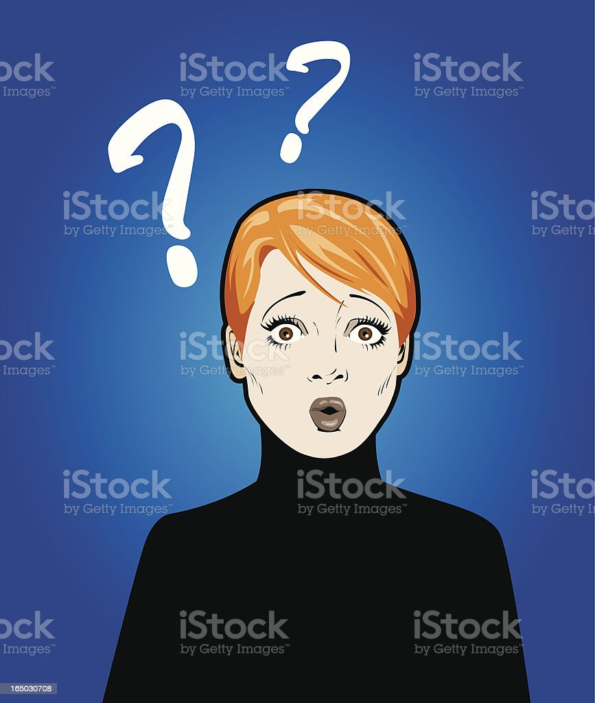 Confused royalty-free stock vector art