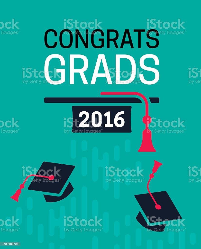Congrats Grad! vector art illustration