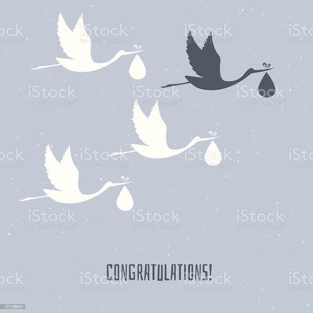 Congratulation for you vector art illustration