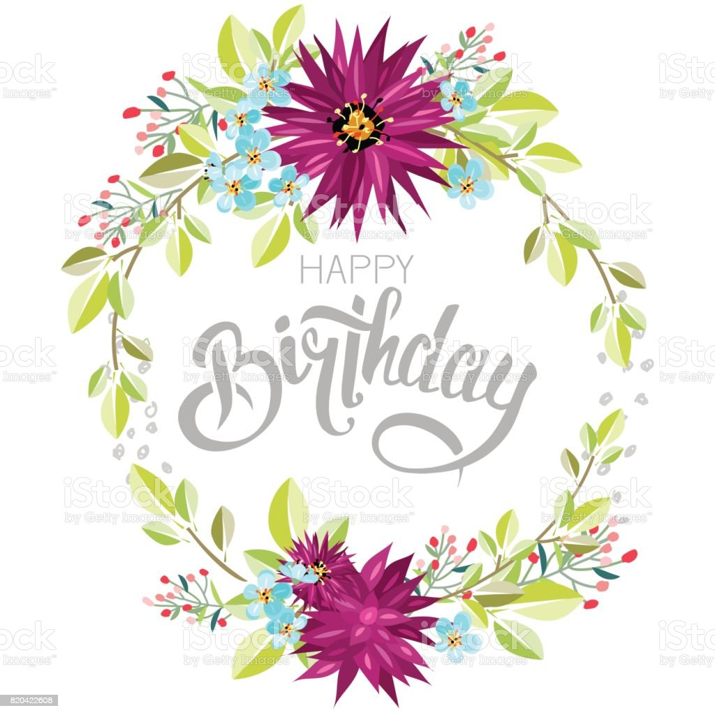 Congratulations happy birthday with flowers stock vector art congratulations happy birthday with flowers royalty free stock vector art izmirmasajfo Choice Image
