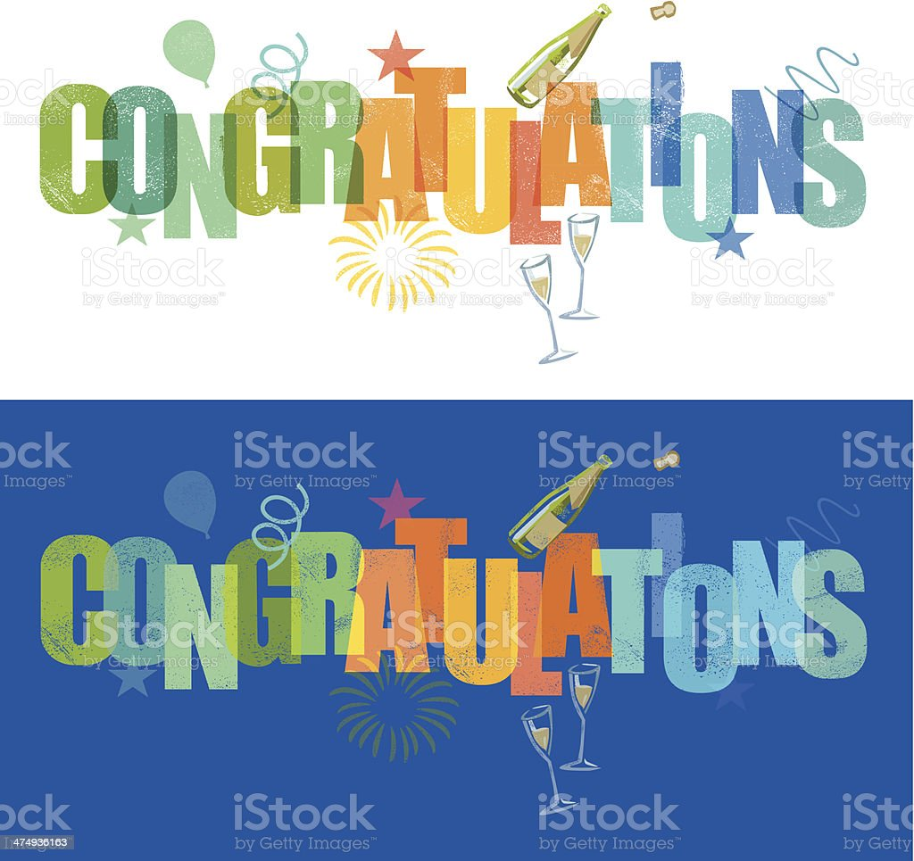 congratulations vector art illustration