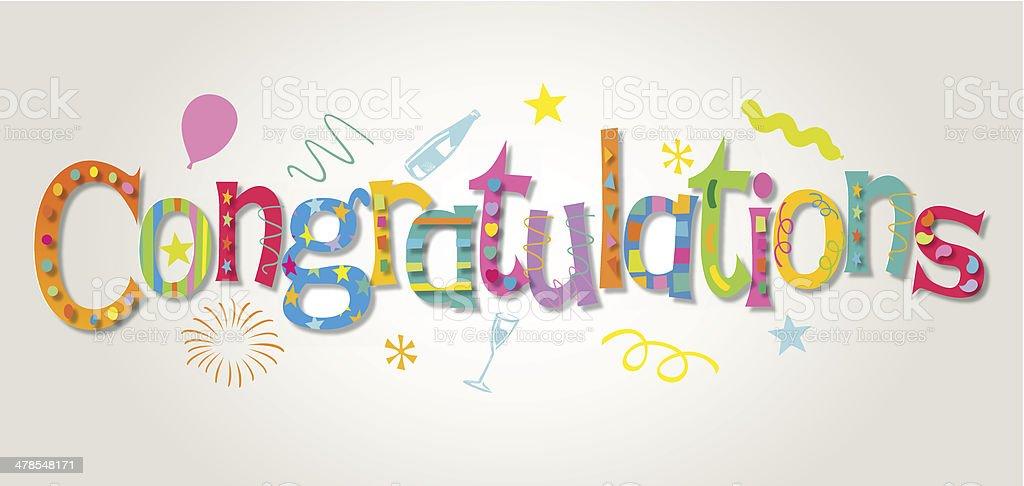 congratulations vector art illustration