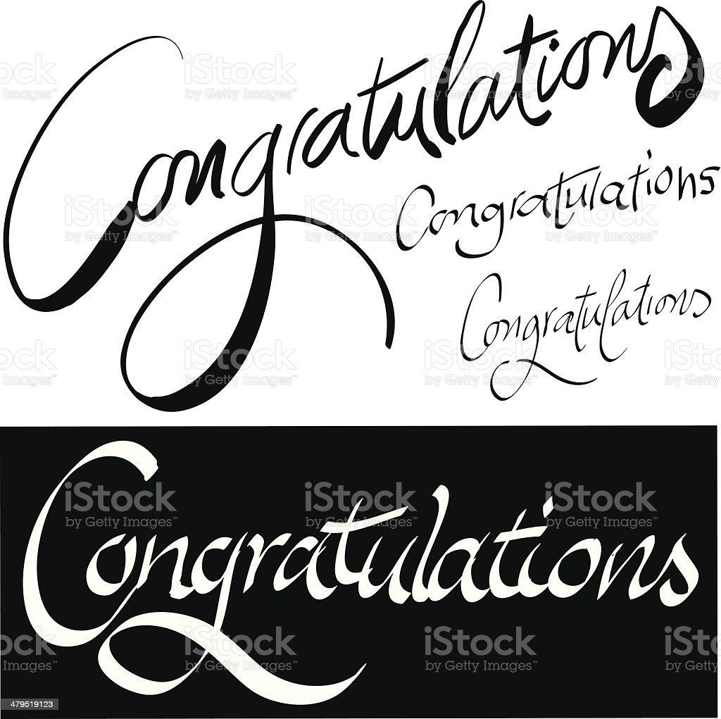 Congratulations royalty-free stock vector art
