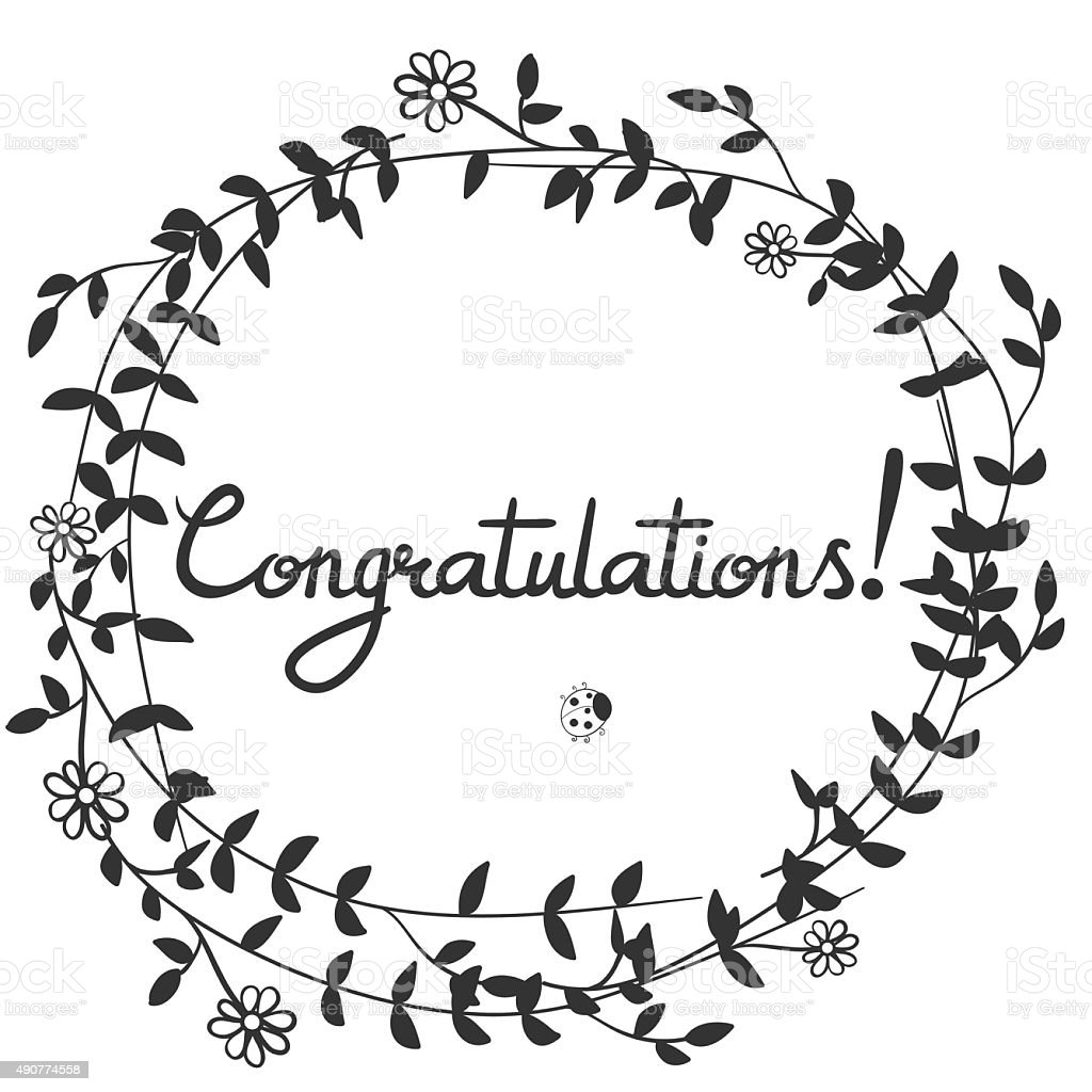 Congratulationshand Lettering Modern Brush Calligraphy