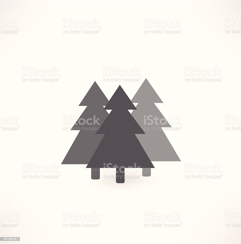 conifer icon vector art illustration