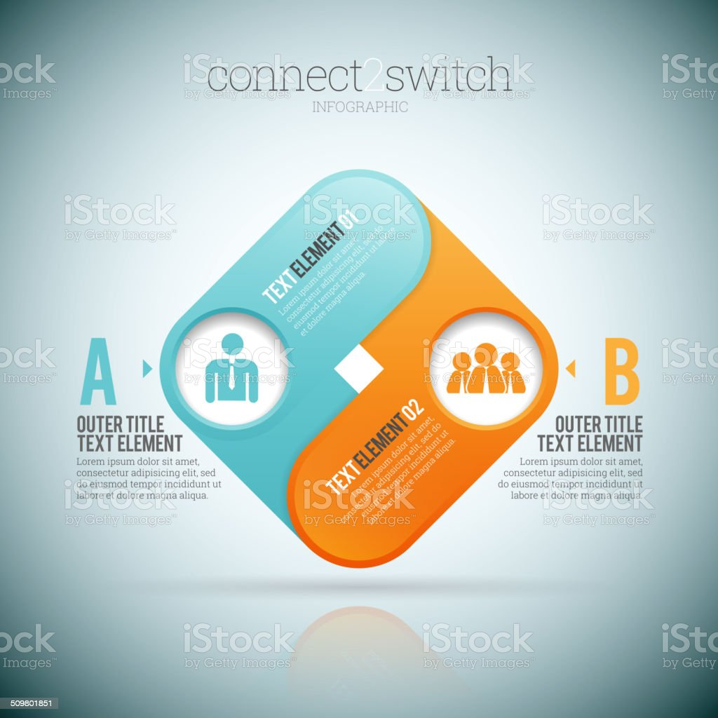 Connect 2 Switch vector art illustration
