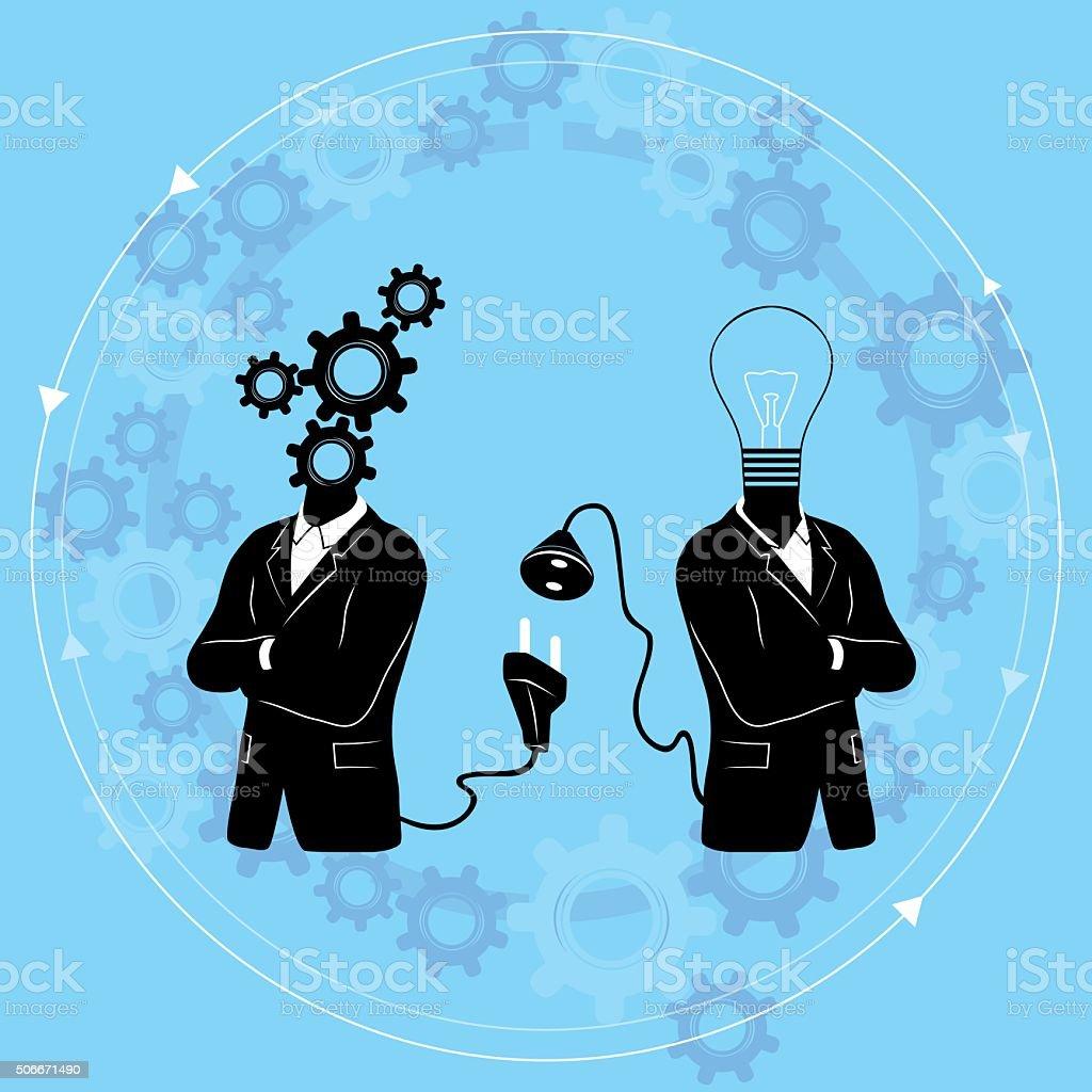 Connect to Idea - concept / vector illustration vector art illustration