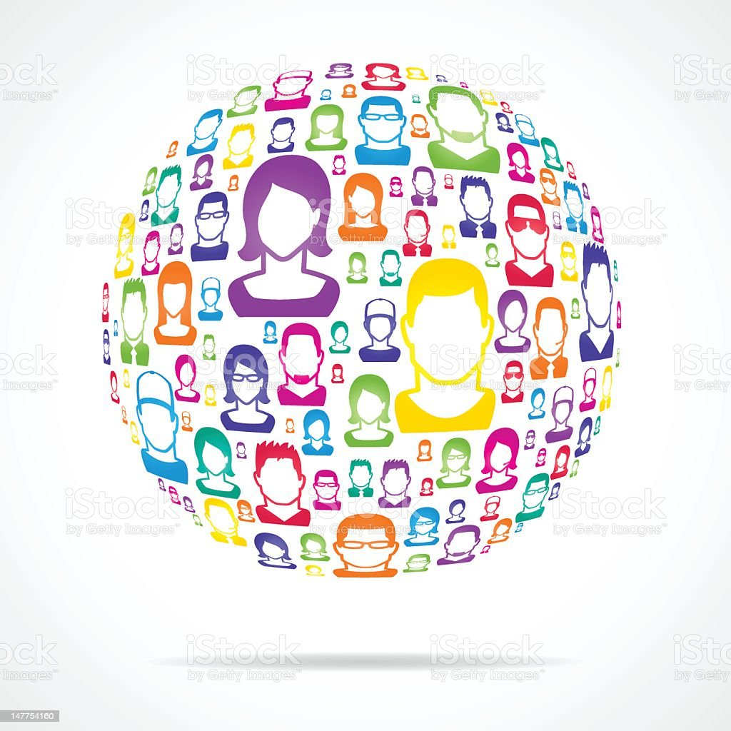 Connecting people concept royalty-free stock vector art