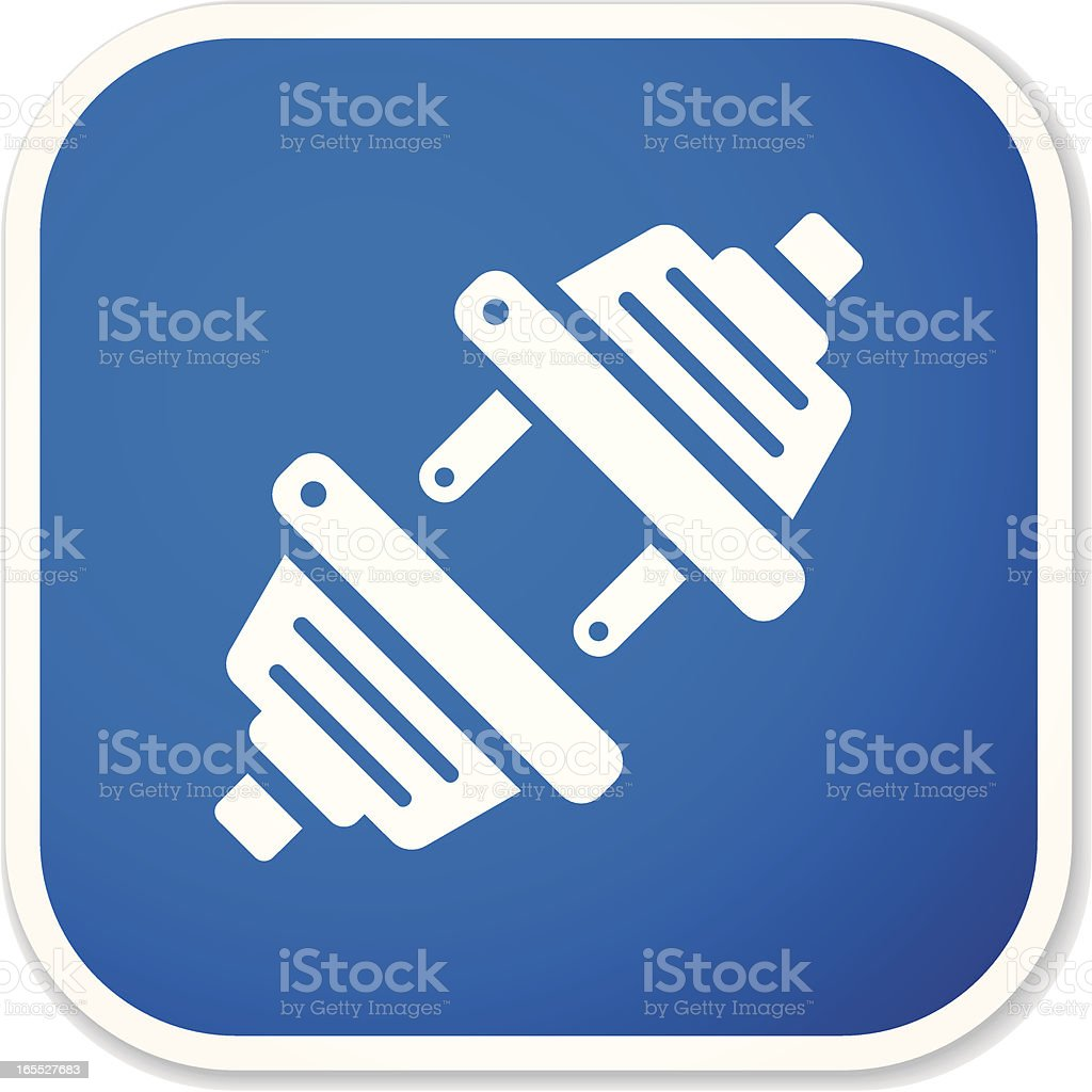 connecting plug sq sticker royalty-free stock vector art