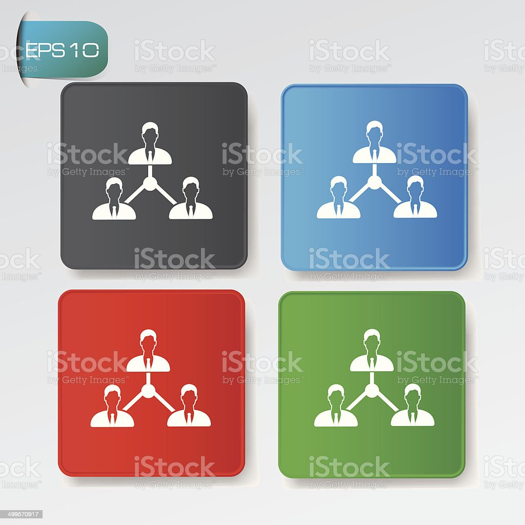 Connection buttons,vector royalty-free stock vector art