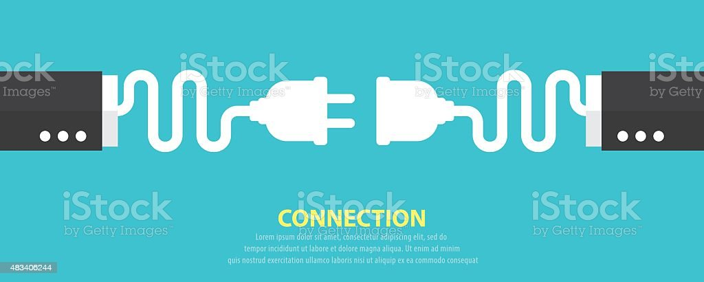 Connection concept vector art illustration