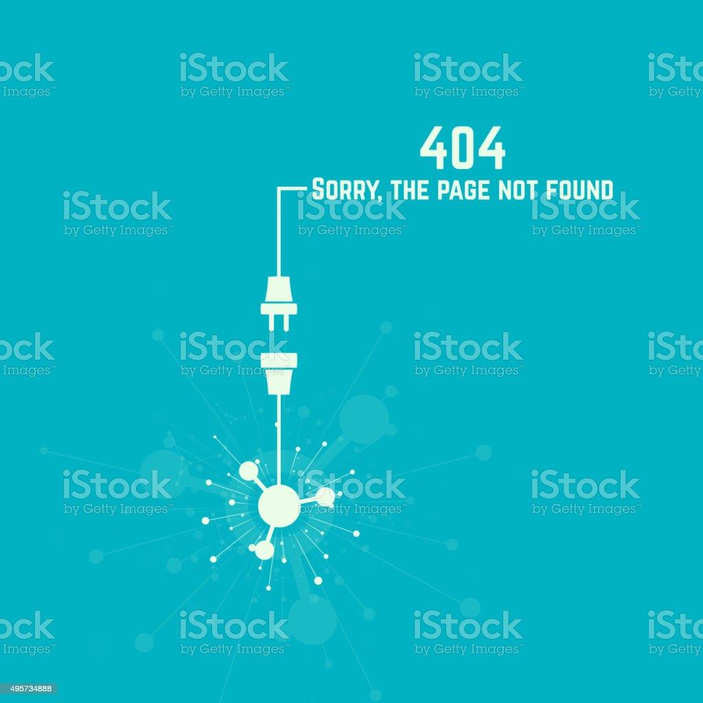 connection error vector vector art illustration