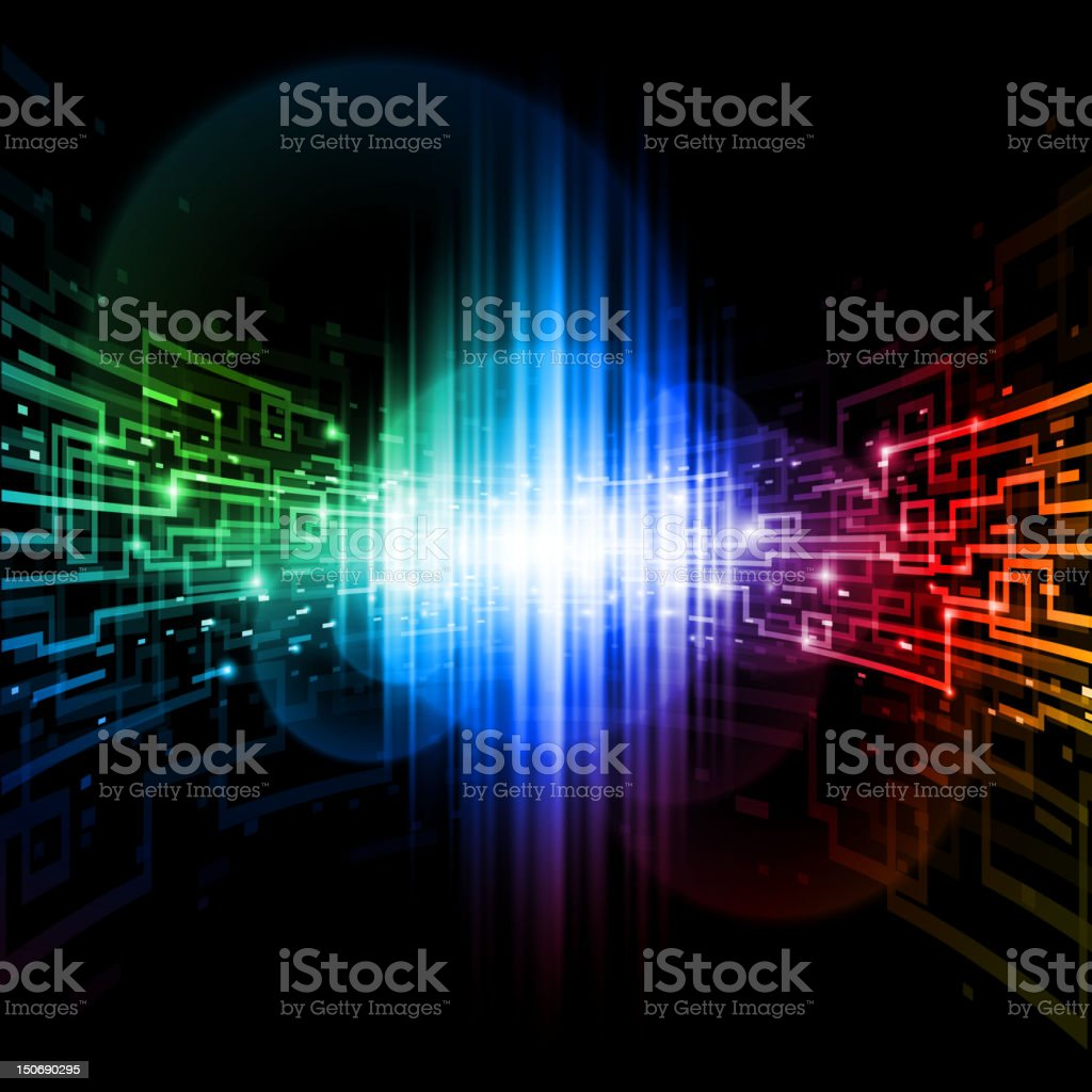 Connection space royalty-free stock vector art