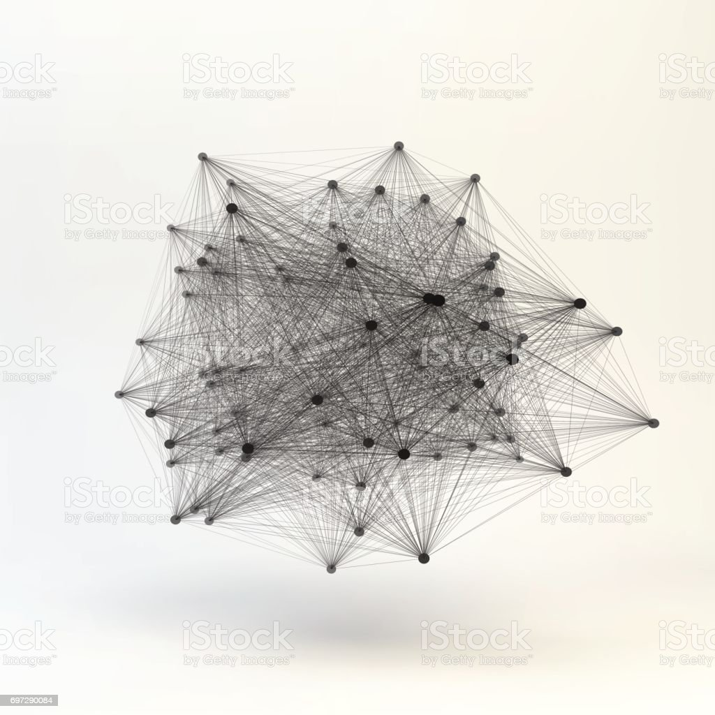 Connection Structure. Wireframe Vector Illustration. vector art illustration